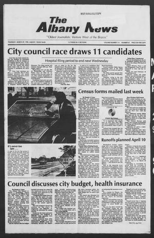Primary view of object titled 'The Albany News (Albany, Tex.), Vol. 114, No. 42, Ed. 1 Thursday, March 29, 1990'.