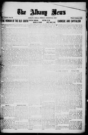 Primary view of object titled 'The Albany News (Albany, Tex.), Vol. 36, No. 10, Ed. 1 Friday, August 22, 1919'.