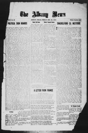 Primary view of object titled 'The Albany News (Albany, Tex.), Vol. 35, No. 29, Ed. 1 Friday, December 20, 1918'.