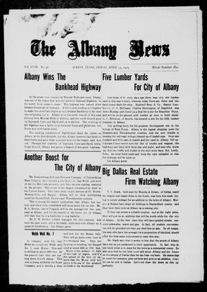 Primary view of object titled 'The Albany News (Albany, Tex.), Vol. 35, No. 46, Ed. 1 Friday, April 25, 1919'.