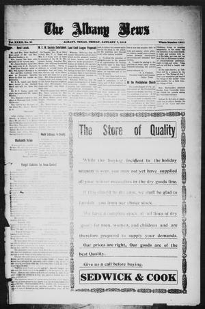 Primary view of object titled 'The Albany News (Albany, Tex.), Vol. 32, No. 31, Ed. 1 Friday, January 7, 1916'.