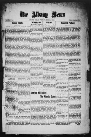 Primary view of object titled 'The Albany News (Albany, Tex.), Vol. 35, No. 2, Ed. 1 Friday, June 14, 1918'.