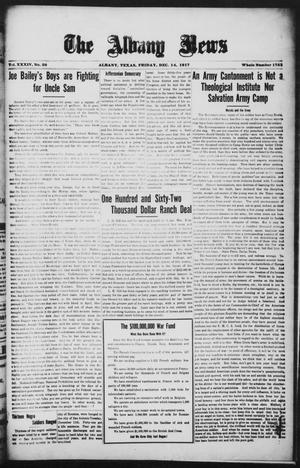 Primary view of object titled 'The Albany News (Albany, Tex.), Vol. 34, No. 28, Ed. 1 Friday, December 14, 1917'.