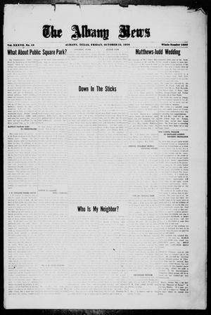 Primary view of object titled 'The Albany News (Albany, Tex.), Vol. 37, No. 19, Ed. 1 Friday, October 22, 1920'.