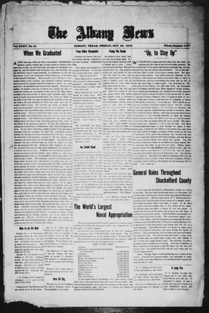 Primary view of object titled 'The Albany News (Albany, Tex.), Vol. 35, No. 21, Ed. 1 Friday, October 25, 1918'.