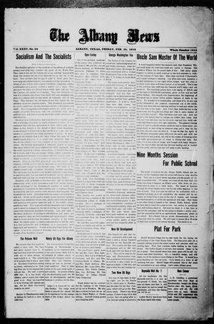 Primary view of object titled 'The Albany News (Albany, Tex.), Vol. 35, No. 38, Ed. 1 Friday, February 28, 1919'.