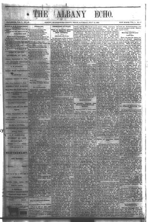 Primary view of object titled 'The Albany Echo. (Albany, Tex.), Vol. 1, No. 8, Ed. 1 Saturday, July 14, 1883'.