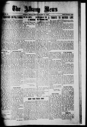 Primary view of object titled 'The Albany News (Albany, Tex.), Vol. 36, No. 40, Ed. 1 Friday, March 19, 1920'.