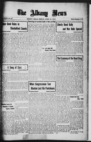 Primary view of object titled 'The Albany News (Albany, Tex.), Vol. 34, No. 46, Ed. 1 Friday, April 19, 1918'.