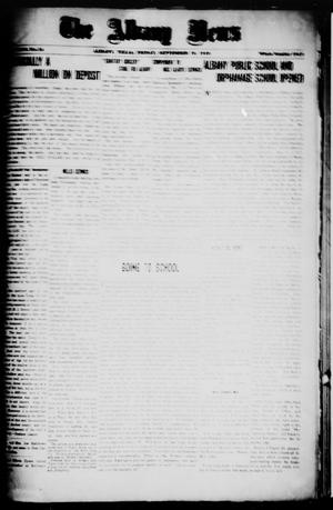 Primary view of object titled 'The Albany News (Albany, Tex.), Vol. 36, No. 14, Ed. 1 Friday, September 19, 1919'.