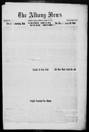 Primary view of object titled 'The Albany News (Albany, Tex.), Vol. 37, No. 45, Ed. 1 Friday, April 29, 1921'.