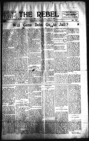 Primary view of object titled 'The Rebel (Hallettsville, Tex.), Vol. [2], No. 77, Ed. 1 Saturday, December 21, 1912'.