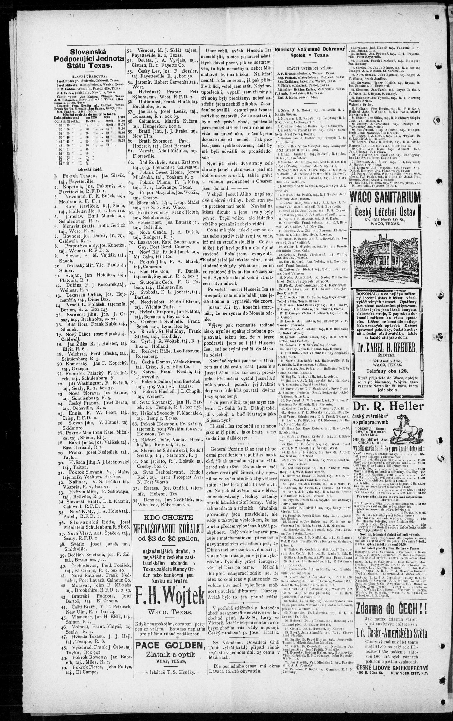 Obzor Hallettsville Tex Vol 20 No 20 Ed 1 Thursday