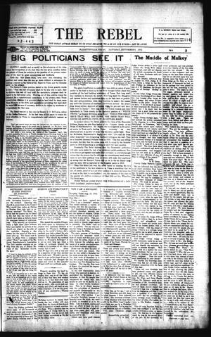 Primary view of object titled 'The Rebel (Hallettsville, Tex.), Vol. [3], No. 113, Ed. 1 Saturday, September 6, 1913'.