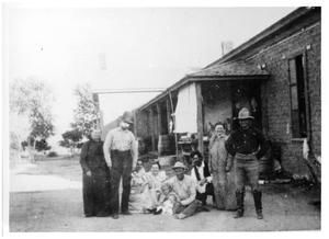 Primary view of object titled 'The Crosson Family at Goat Mountain Ranch'.