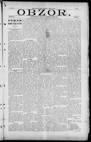 Primary view of object titled 'Obzor. (Hallettsville, Tex.), Vol. 20, No. 25, Ed. 1 Thursday, January 19, 1911'.