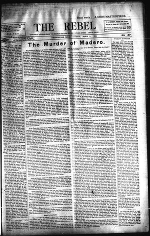Primary view of object titled 'The Rebel (Hallettsville, Tex.), Vol. [2], No. 87, Ed. 1 Saturday, March 8, 1913'.
