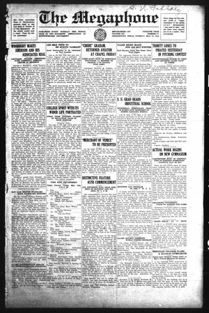 The Megaphone (Georgetown, Tex.), Vol. 12, No. 31, Ed. 1 Tuesday, May 13, 1919