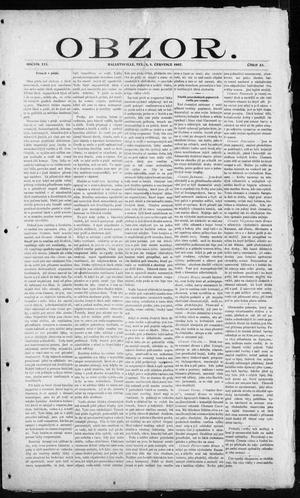 Primary view of object titled 'Obzor. (Hallettsville, Tex.), Vol. 16, No. 23, Ed. 1 Monday, July 1, 1907'.