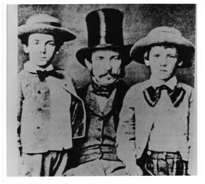 Primary view of object titled '[Major Henry C. Wayne with sons]'.
