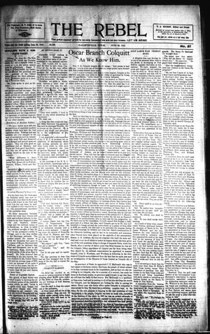 Primary view of object titled 'The Rebel (Hallettsville, Tex.), Vol. [1], No. 51, Ed. 1 Saturday, June 22, 1912'.