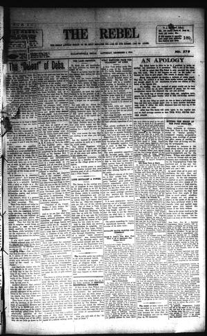 Primary view of object titled 'The Rebel (Hallettsville, Tex.), Vol. [6], No. 279, Ed. 1 Saturday, December 2, 1916'.