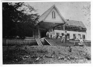 Primary view of object titled '[India Coffield's plantation home in 1906]'.