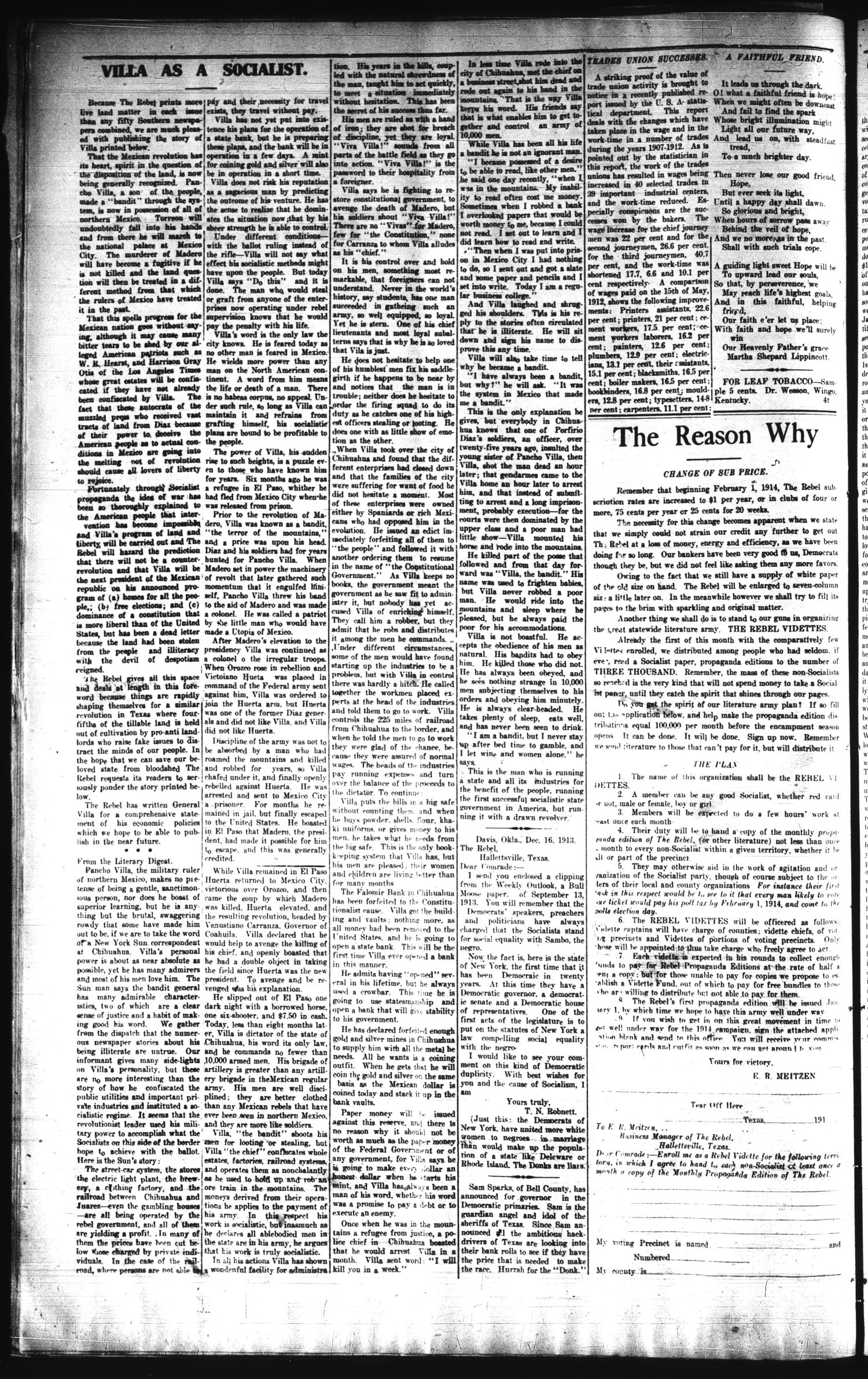 The Rebel (Hallettsville, Tex.), Vol. [3], No. 133, Ed. 1 Saturday, January 31, 1914                                                                                                      [Sequence #]: 2 of 4
