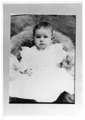 Primary view of object titled '[India Coffield as an infant]'.