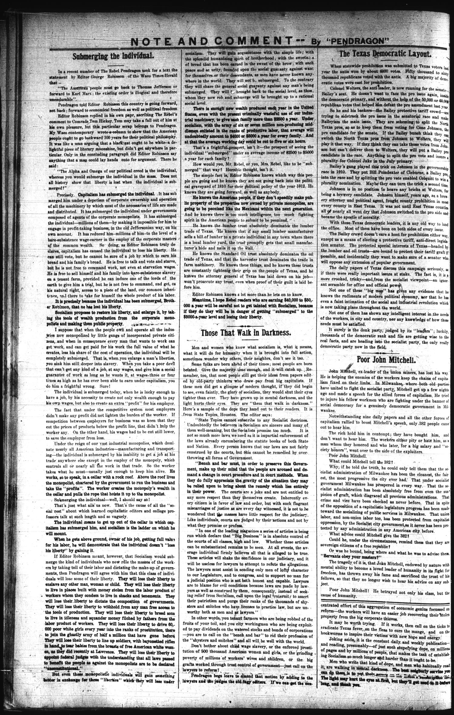 The Rebel (Hallettsville, Tex.), Vol. [1], No. 38, Ed. 1 Saturday, March 23, 1912                                                                                                      [Sequence #]: 4 of 4