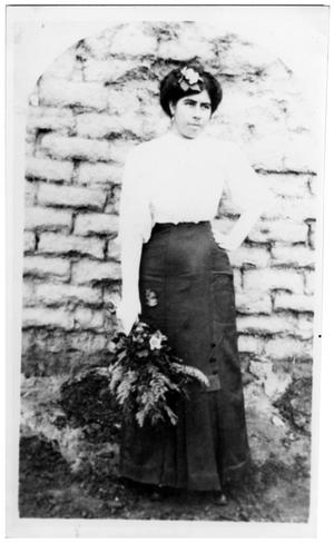 Primary view of object titled 'Antonia Cano in Grand Falls, Texas'.