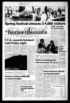 Primary view of object titled 'Bastrop Advertiser and Bastrop County News (Bastrop, Tex.), No. 10, Ed. 1 Thursday, May 5, 1977'.