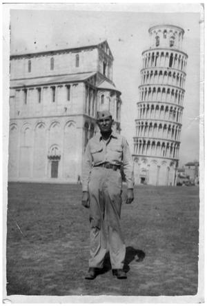 Primary view of object titled '[Manuel Colomo in Italy, 1945]'.