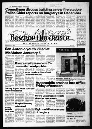 Primary view of object titled 'Bastrop Advertiser and Bastrop County News (Bastrop, Tex.), No. 46, Ed. 1 Thursday, January 13, 1977'.