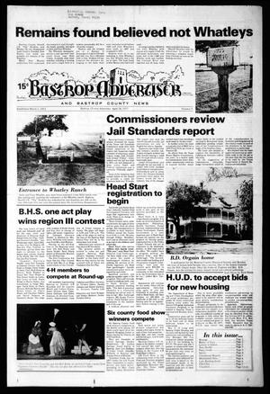 Primary view of object titled 'Bastrop Advertiser and Bastrop County News (Bastrop, Tex.), No. 9, Ed. 1 Thursday, April 28, 1977'.
