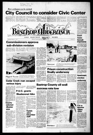 Primary view of object titled 'Bastrop Advertiser and Bastrop County News (Bastrop, Tex.), No. 11, Ed. 1 Thursday, May 12, 1977'.