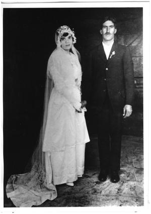 Primary view of object titled '[Wedding photograph of Luis and Nieves Colomo]'.