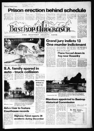 Primary view of object titled 'Bastrop Advertiser and Bastrop County News (Bastrop, Tex.), No. 47, Ed. 1 Thursday, January 20, 1977'.