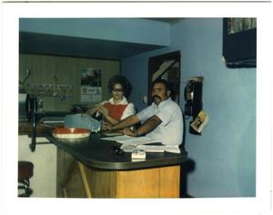 Primary view of object titled '[Armando and Lucy Garcia at Mando's Drive In]'.