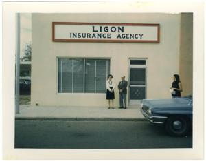 Primary view of object titled '[Insurance agency belonging to the Ligons]'.