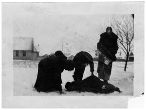 Primary view of object titled 'Ladies in the Snow, Marfa, Texas'.