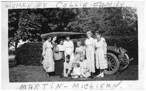 Primary view of object titled 'Collie Family Women in Martin, Michigan'.