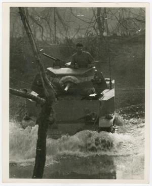 Primary view of object titled '[Light Tank Crossing Stream]'.