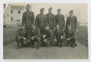 Primary view of object titled '[119th Armored Engineer Men at Camp Campbell, Kentucky]'.