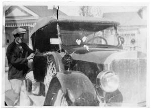 Primary view of object titled 'John Francis Conners with an Automobile'.