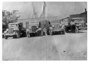 Primary view of object titled '[Trucks used in Marfa during the 1920s and 1930s]'.