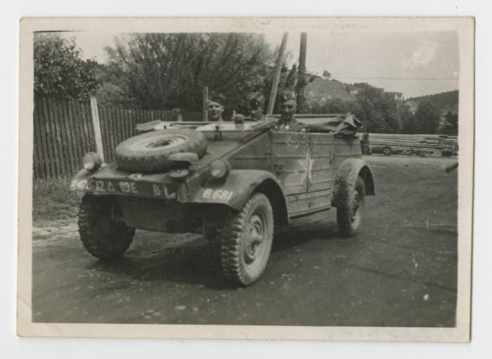 Three Staff Sergeants In A Captured Volkswagen K 252 Belwagen