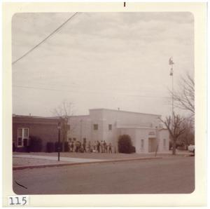Primary view of object titled '[Hunter Gymnasium at Marfa High School]'.