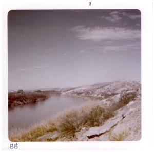 Primary view of object titled '[Small body of water at Big Bend National Park]'.