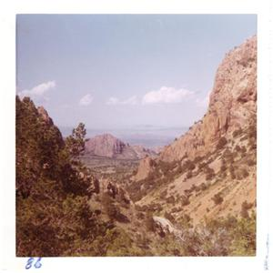 Primary view of object titled '[Mountains and shrubbery at Big Bend National Park]'.